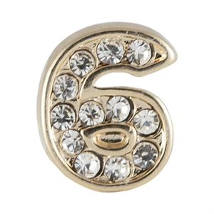 Picture of Gold Number Six Charm
